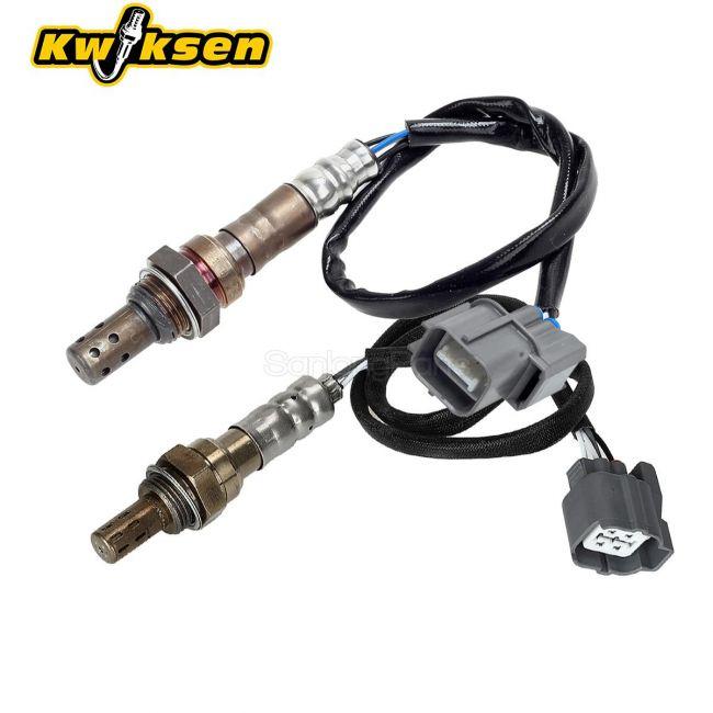 Kwiksen Heated 2Pcs Air Fuel Ratio O2 Oxygen Sensor 1 Sensor 2 Upstream Downstream 234-9004 234-4122 Replacement for Honda Civic Si SiR 2.0L 2002 2003 2004 2005